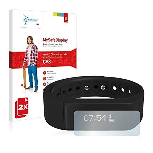 2x Vikuiti MySafeDisplay CV8 Displayschutz Schutzfolie für Dax Hub I5 Smartwatch Sport (Ultraklar, strak haftend, versiegelt Kratzer)