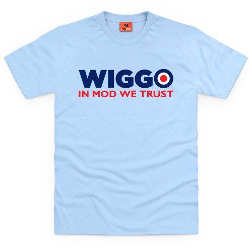Wiggo Mod T-shirt, Uomo Celeste