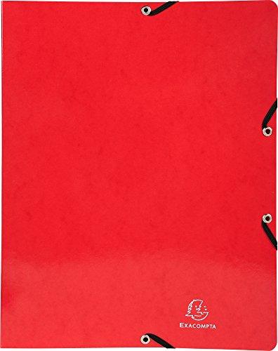 Exacompta anello libro iderama con elastico A4, 4anelli, 15mm, cartone Manila rivestito, rosso