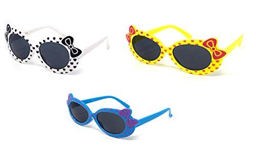 ue farbige Kinder Kinder Mädchen stilvolle Cute Designer Stil Sonnenbrille hochwertige mit Pfeil und Bogen Herz Stil UV400 Sonnenbrille Schattierungen UVA UVB-Schutz (Hello Kitty Begünstigt)