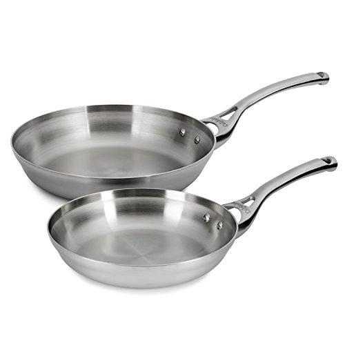 Calphalon Contemporary Stainless 8 & 10 inch Fry Pan Set