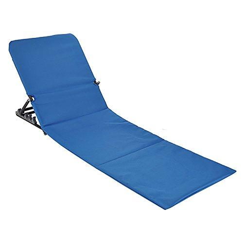 Lettino da spiaggia 145x 47x 52cm pieghevole blu spiaggia matte sedia a sdraio portatile con borsa pieghevole outdoor liege