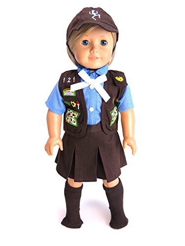 18 Inch Doll Clothes - Adorable Girl Scout Brownie Outfit | Fits 18 American Girl Dolls | by American Fashion World