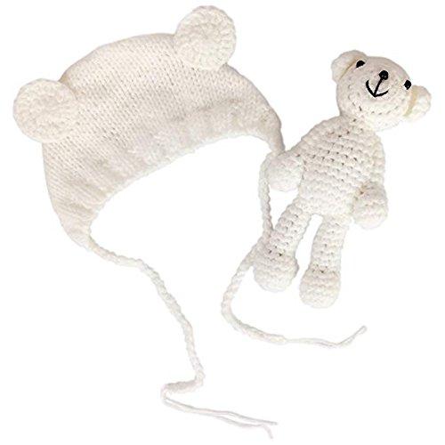 Jastore Neugeborenen Fotoshooting Kostüm Junge Mädchen Bär Mützen Fotographie Prop Crochet Geschenk Baby Kleidung neuborn - Bar Mädchen Kostüm