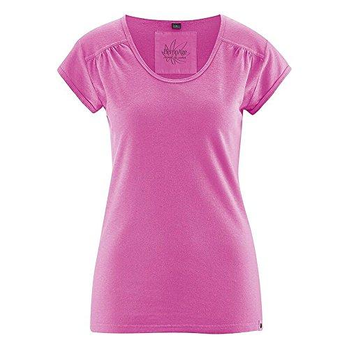 HempAge Damen T-Shirt Nanni aus Hanf und Bio-Baumwolle Candy