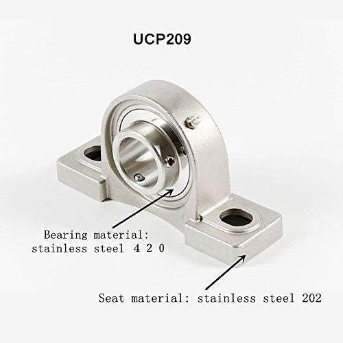 UCP209 Φ45mm Palier à semelle en acier inoxydable,Roulement à billes bride pour divers équipements mécaniques (UCP209)