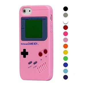 Rose Clair Game Boy Silicone Étui Coque pour iPhone 5 5G - Souple Case Cover + 2 Films de protection d'écran