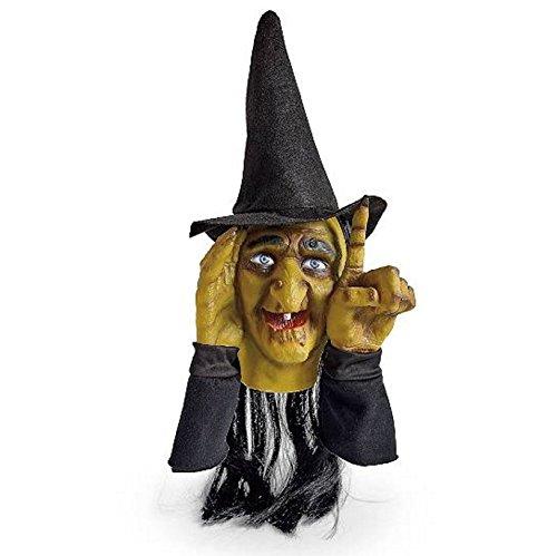 Halloween Hexen Dekoration Scary Peeper klopfende Hexe| Bewegungsaktivierter Halloween Fenster Tipper Spanner, der…