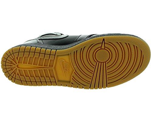 Nike Air Jordan 1 Retro High OG BG, Chaussures de Sport-Basketball Garçon Noir / marron (noir / noir - gomme, marron clair)