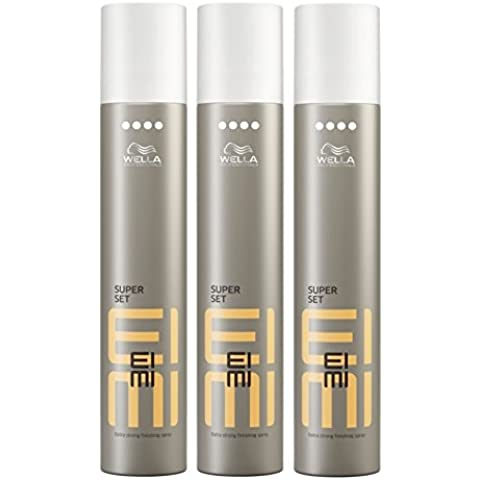 Wella Eimi Super Set Spray per capelli extra forte 3 x 300 ml Styling Hair Spray Finishing Spray