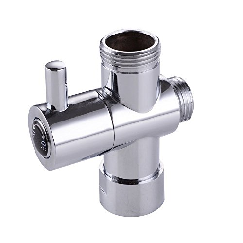 KES PV1massivem Messing 3-Wege-Umstellventil 3/10,2cm und 1/5,1cm IPS Dusche System Ersatzteil, chrom poliert (Head-dusche-adapter)