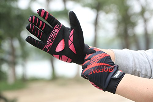 Lerway Winter MTB Handschuhe Gepolstert Race Fahrrad Handschuhe Sporthandschuhe für Radsport ,Outdoor Sport Mountainbike Damen und Herren Gloves (XL, Rot)