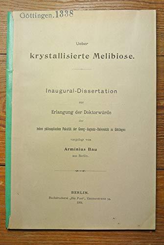 Ueber krystallisierte Melibiose.