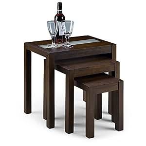 Julian Bowen Santiago Tables gigognes en bois wengé