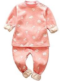 Conjuntos Bebe Niña Invierno, ❤️ Zolimx Recién Nacidos Niñas Niños Impresa Ropa de Manga Larga Camiseta + Pantalones Trajes Conjuntos