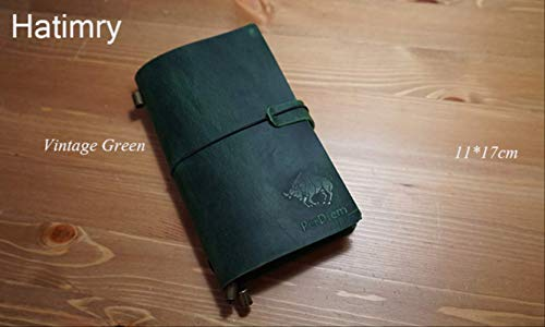 QWSAE notebookGenuine Leather Notebook Traveler's Diary Agenda Planner Quaderni fatti a mano Daily Caderno Sketchbook School Supplies