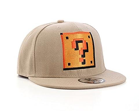 Underground Kulture Super Mario ? Fragezeichen Box Snapback Baseballkappe (Question Mark Cap)
