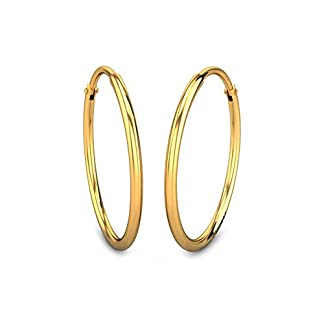 Candere By Kalyan Jewellers 22k (916) Yellow Gold Hanshita Hoop Earrings for Women