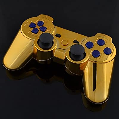 Playstation 3 Controller - Chrome Gold with Blue Buttons