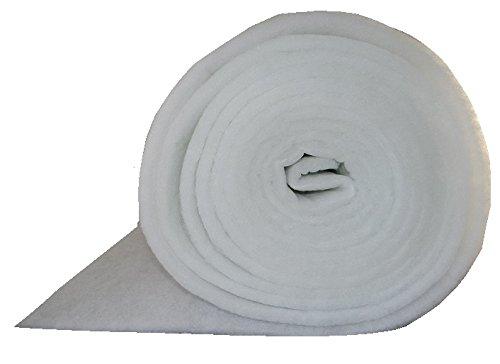 G4 Filtermatte EU4 ca. 1 x 20 m Stärke ca. 18mm ca. 220g/m² Ersatzfiltervlies zum selbst zuschneiden Lüftungsanlage Wohnraumbelüftung Kompressoren Badlüfter Sauger Klima Lüftung Wärmerückgewinnungsanlagen -