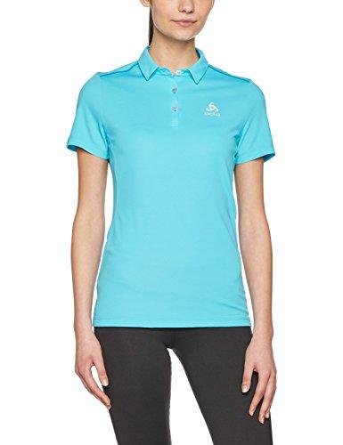 Odlo Damen Polo Shirt s/s Tina Poloshirt, Blue Atoll, M (Atoll Bekleidung Blue)