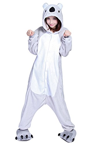 MissFox Kigurumi Pyjama Erwachsene Anime Cosplay Halloween Kostüm Kleidung Koala S