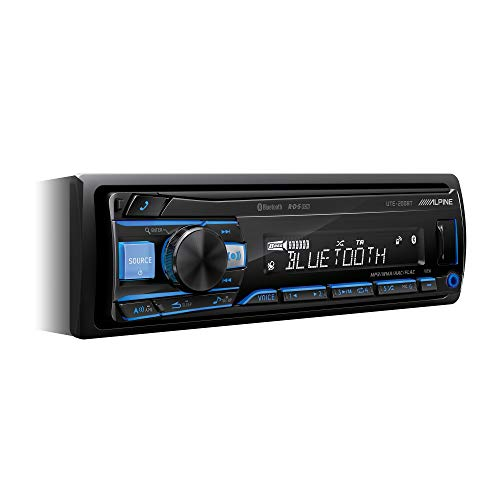 Alpine Electronics UTE-200BT Autoradio Bluetooth 1DIN, Schwarz (RGB Beleuchtung) (Car-audio-subwoofer Alpine)