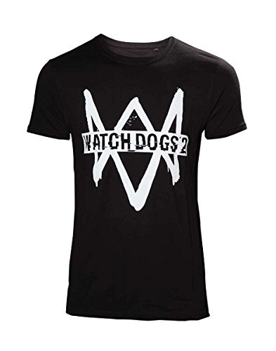 Watch Dogs 2 T-Shirt Logo Text Size S Bioworld shirts