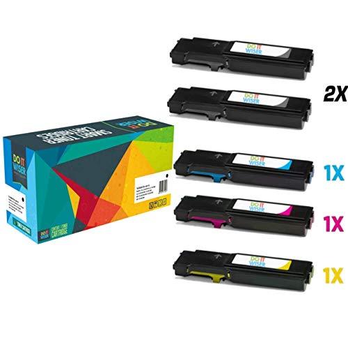 Cartuccia toner Do it wiser compatibile in sostituzione di Xerox WorkCentre 6605, Phaser 6600, WorkCentre 6605dn, WorkCentre 6605n, Phaser 6600n, Phaser 6600dn (Confezione da 5)