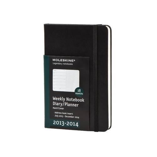 Moleskine 2014 Planner 18 Month Weekly Notebook Black Large