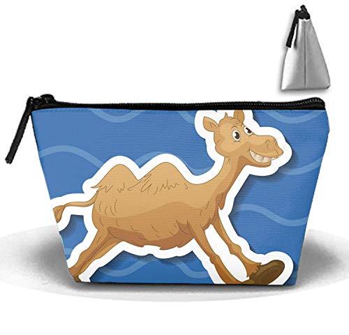 Camel-koralle (Camel Multifunktionale Trapez-Aufbewahrungstasche Travel Cosmetic Bag)