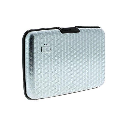 Ogon Design Ss 5Ah Gamme Inox Fan Shaped Porte-cartes De Crédit Bleu Pacific