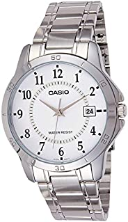 Watch for Men by Casio , Analog , Stainless Steel , Silver , MTP-V004D-7B