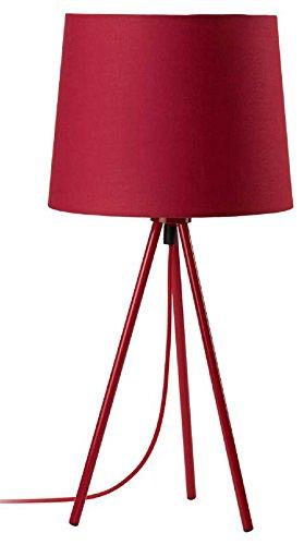 Mathias trípode 3470371 lámpara de Miya con 40W E27 230V Diámetro Rojo 23 cm Altura 48 cm