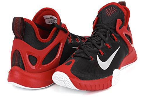 Nike  Zoom Hyperrev 2015, Chaussures de Baseball homme Multicolore - Negro / Plateado / Rojo / Blanco (Blk / Pr Pltnm-Unvrsty Rd-White)