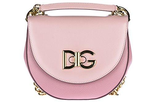 Dolce & Gabbana Umhängetasche Damen Tasche Schultertasche Messenger Leder wifi ros