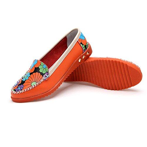 Transer  Dx-026, Sandales Compensées fille femme Orange