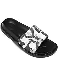 57c20aaa2e2 Pantoufles de Bain Chaussures de Piscine Antidérapant Sandales Plage  Claquettes Plates pour Hommes Femmes