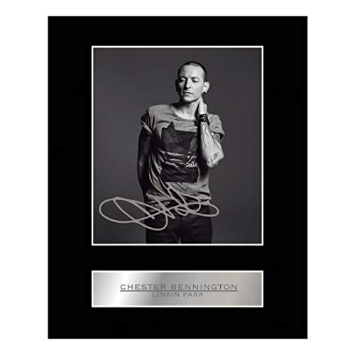 Chester Bennington Signiert Foto Display # 1 - Chester Labs