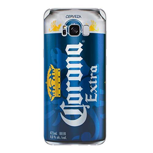 Bier Telefon Hülle/Case für Samsung Galaxy S8 Plus (G955) mit Displayschutzfolie/Silikon Weiches Gel/TPU/iCHOOSE/Corona (Extra Corona Glas Bier)