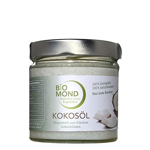 BIO Kokosöl nativ BIOMOND 330 ml kaltgepresst Virgin Coconut Oil frisch vegan hoch erhitzbar