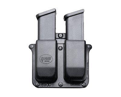 FOBUS Gürtelholster Doppel-Magazintasche für Sig Sauer .357 .40 cal / Glock 9mm .40 .357 .45 G.A.P / Heckler Koch H&K 9mm / Smith & Wesson SW M&P 9mm und .40 cal 6900-BH FOBUS + Best Security Gear Magnet