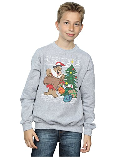 The Flintstones Jungen Christmas Fair Isle Sweatshirt 9-11 Years Sport Grey (Jungen-fair-isle-pullover)