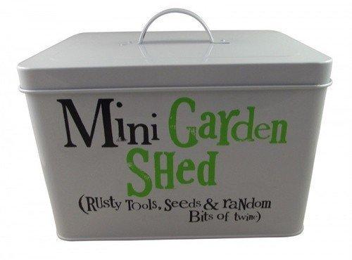 Bright Side Garden Storage Tin - Mini Garden Shed