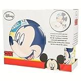 Stoviglie Per Bambini in Ceramica. Set di Piatto e Tazza di Disney con Dijubo Mickey Mouse. Tazza, Piatto Grande e Piattino