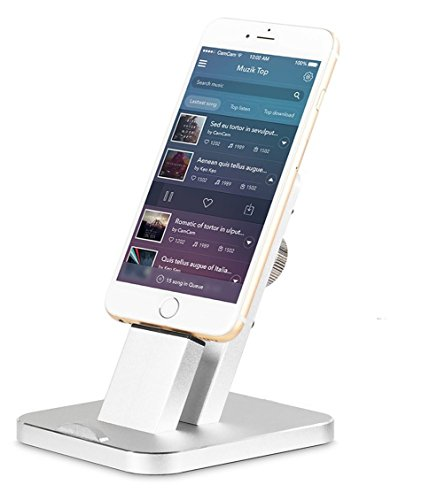 iPhone Halterung, iPUTY iPhone Halter Dock Ständer Handyhalter Metall Legierung Aluminium Display Lader Cradle Stand für iPhone SE / 7 Plus / 7 / 6s Plus / 6s / 6 Plus / 6 / iPad / iPod touch 5 (Iphone 5c Fällen Wie Speck)
