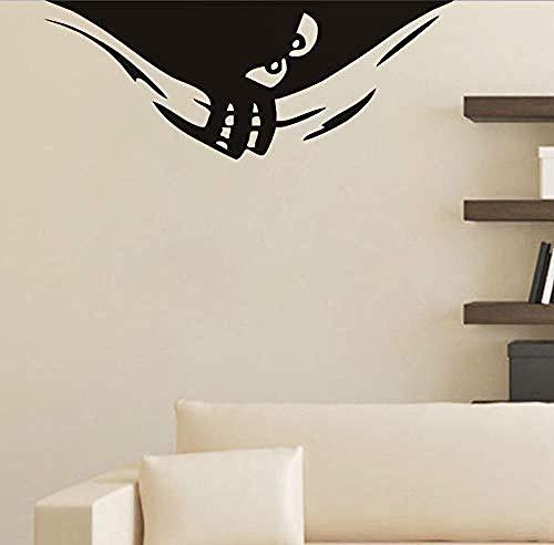 Peeking Monster Wandaufkleber 62X24 Cm, niedliche Monster Halloween Dekoration Wandkunst Aufkleber Für Kinderzimmer Wohnzimmer Wandaufkleber ()