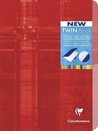 Clairefontaine 63642C TWIN BOOKS Hefter A5 MAXI kariert 5x5 96 Blatt, sortiert