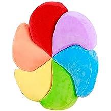 Creative lindo seis color almohadilla de peluche pétalo de algodón PP lleno de almohada de sofá de casa arco iris de color , 45*45 cm