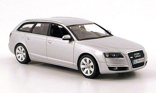 audi-a6-avant-c6-plateado-2004-modelo-de-auto-modello-completo-minichamps-143
